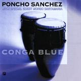 Poncho Sanchez - Conga Blue Wall Decal