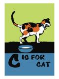G sta per gatto, in inglese Decalcomania da muro di Charles Buckles Falls