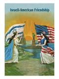 Israeli American Friendship Decalcomania da muro