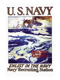 Help Your Country! Enlist in the Navy, c.1917 Wall Decal by Henry Reuterdahl