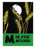 M is for Mouse Seinätarra tekijänä Charles Buckles Falls