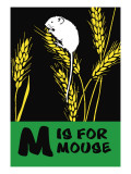 M is for Mouse Decalcomania da muro di Charles Buckles Falls