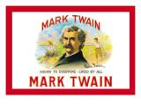 Mark Twain Cigars Wall Decal