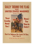 Rally 'Round the Flag with the United States Marines Wall Decal by Sidney Riesenberg