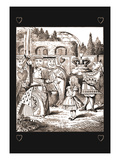 Through the Looking Glass: The Queen's Croquet Ground Veggoverføringsbilde av John Tenniel
