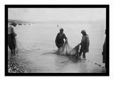 Fisherman Toiling with the Nets on the Sea of Galilee Decalcomania da muro