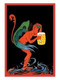 Biere au Diable Wallstickers af Eugene Oge