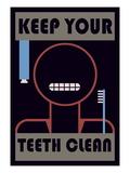Keep Your Teeth Clean Wallstickers