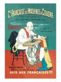 Cie Francaise des Machines a Coudre Wallstickers af Eugene Oge