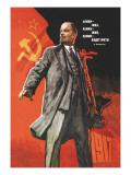Lenin levede, Lenin lever, Lenin vil leve, på russisk Wallstickers af Victor Ivanov