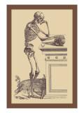 Leaning Skeleton Wandtattoo von Andreas Vesalius