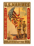 Soldiers of the Sea, Military Training Travel Education Development Wall Decal by Sidney Riesenberg