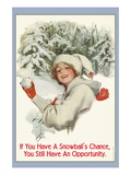 A Snowball's Chance Wallstickers