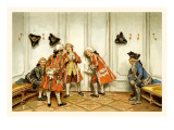 School for Scandal: Eavesdropping Wall Decal by Lucius Rossi