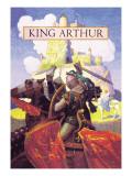 Le roi Arthur Autocollant mural par Newell Convers Wyeth