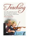 The Supreme Art of the Teacher Väggdekal