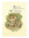 Mistress Mary Quite Contrary Wall Decal by Maud Humphrey