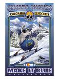 Colorful Colorado, Make It Blue Decalcomania da muro di Kelly, Richard