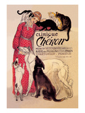 Clinique Cheron, Veterinary Medicine and Hotel Wall Decal by Théophile Alexandre Steinlen