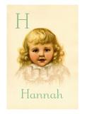 H for Hannah Autocollant mural par Ida Waugh