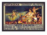 Cartegena Temporado de Verano Decalcomania da muro di Frederick Burr Opper