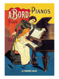 Bord Pianos, The First Lesson Wallstickers af Eugene Oge