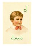 J for Jacob Autocollant mural par Ida Waugh