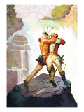 Battle of Glen Falls Wallstickers af Newell Convers Wyeth