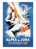 Alpes and Jura Decalcomania da muro di Eric De Coulon