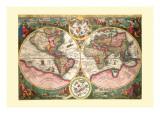 Orbis Terrarum Typus Wandtattoo von Jan Baptist Vrients