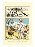 Puck Magazine: The Prodigal's Return Decalcomania da muro di Frederick Burr Opper