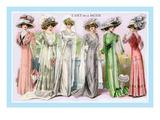 L'Art de la Mode: Six Beautiful Gowns Wallstickers