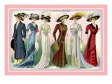 L'Art de la Mode: A Variety of Beautiful Fashions Wallstickers