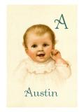 A for Austin Autocollant mural par Ida Waugh