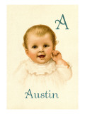 A for Austin Wall Decal by Ida Waugh