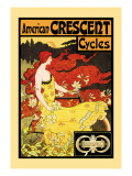American Crescent Cycles Wall Decal by Fred Ramsdell