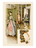 School for Scandal: Library Scene Wall Decal by Lucius Rossi
