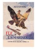 Fly with the U.S. Marines Veggoverføringsbilde av Howard Chandler Christy