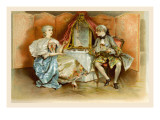 School for Scandal: Scene 1, Act 1 Wall Decal by Lucius Rossi