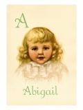 A for Abigail Autocollant mural par Ida Waugh