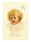 A for Alexis Autocollant mural par Ida Waugh