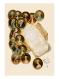School for Scandal: Playbill Wall Decal by Lucius Rossi