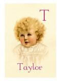 T for Taylor Autocollant mural par Ida Waugh