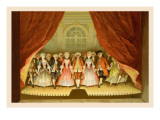 School for Scandal: Cast on Stage Wall Decal by Lucius Rossi