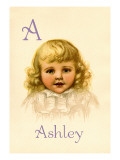 A for Ashley Wall Decal by Ida Waugh