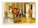 School for Scandal: Caught! Wall Decal by Lucius Rossi