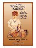 In Her Wheatless Kitchen Veggoverføringsbilde av Howard Chandler Christy