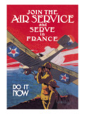 Join the Air Service and Serve in France Wandtattoo von Jozef Paul Verrees