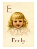 E for Emily Autocollant mural par Ida Waugh