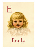E for Emily Wall Decal by Ida Waugh